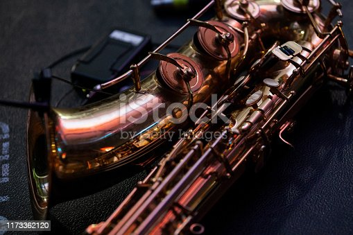detail record of a saxophone