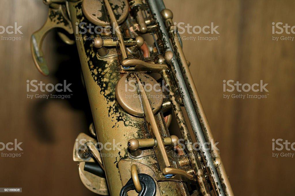 Saxophone gear royalty-free stock photo