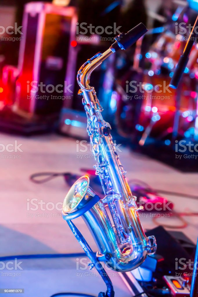 Saxophone Instrument on the Stage