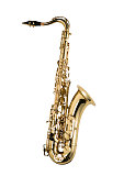 Saxophone isolated on white background ( with clipping path)