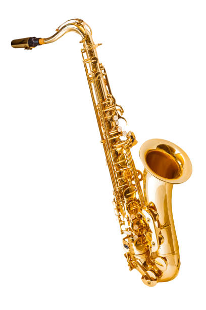 Saxophon, isoliert auf weiss – Foto