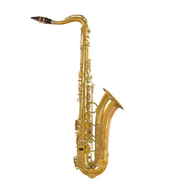 saxophone isolated - clip art stock photos and pictures