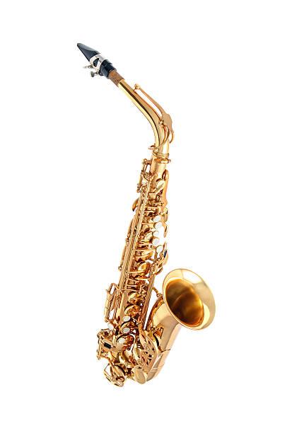 saxophon isoliert - altsaxophon stock-fotos und bilder
