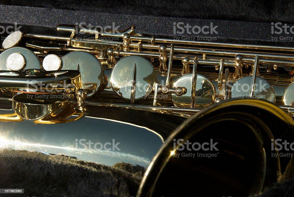 Saxophone Keys stock photo