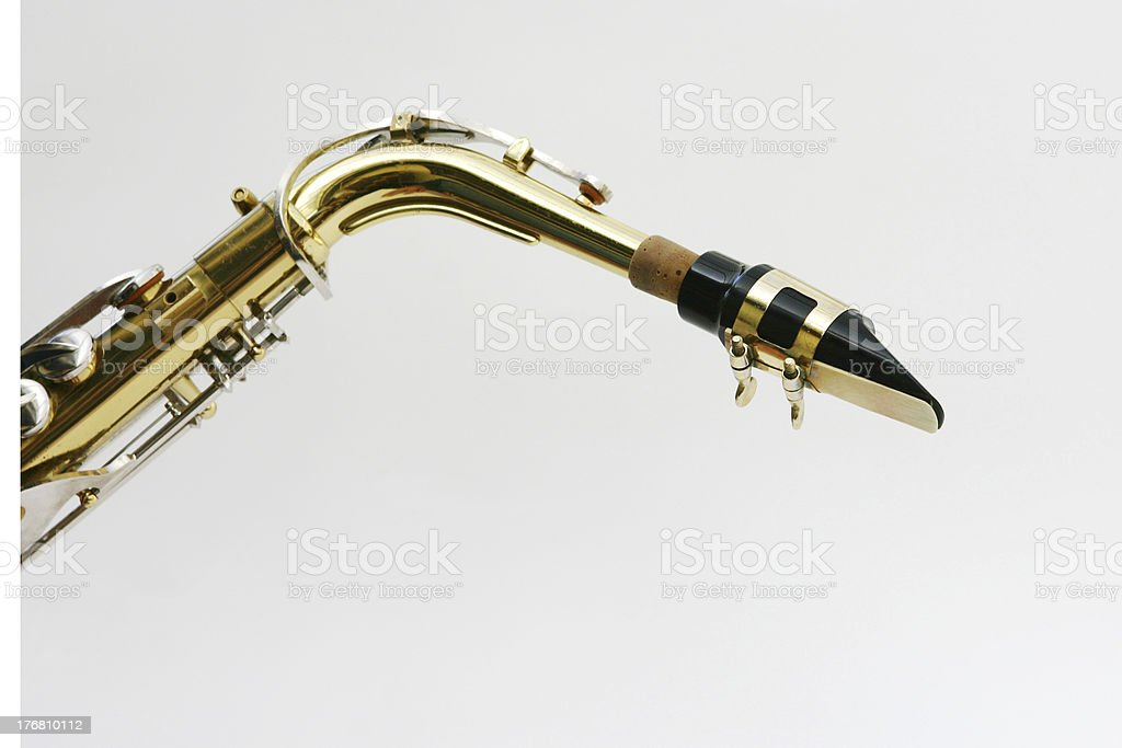 saxophone mouth piece stock photo