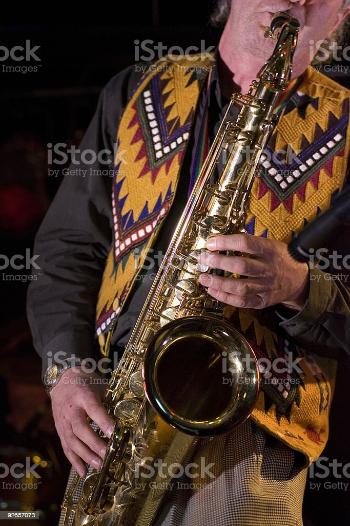 Saxophone Musician stock photo
