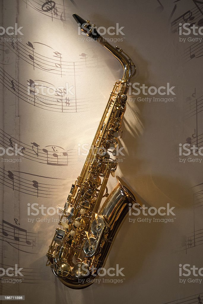 Saxophone royalty-free stock photo