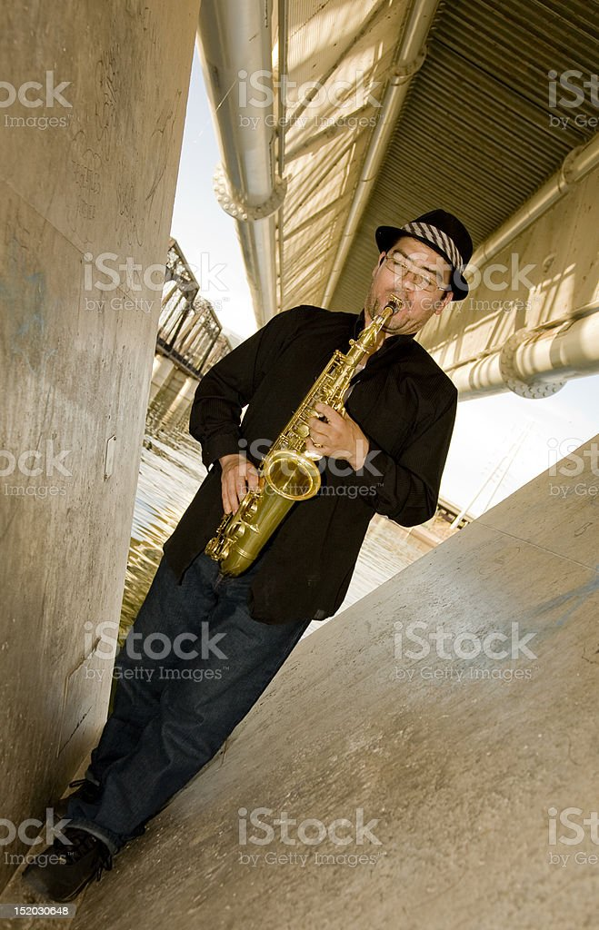 Saxophone Player royalty-free stock photo