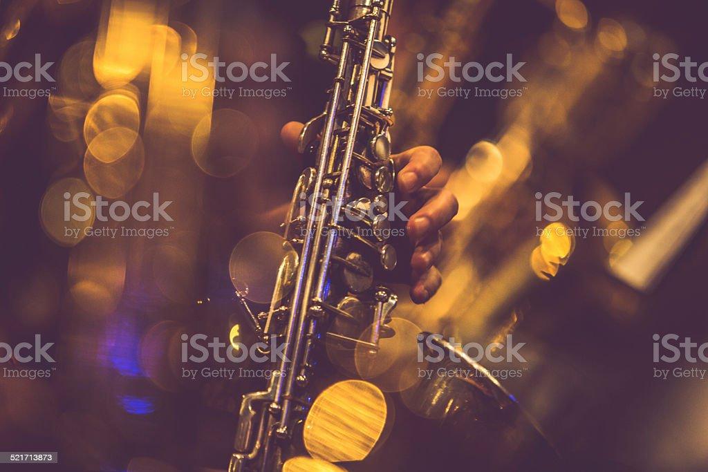 Saxofone jogadores - foto de acervo