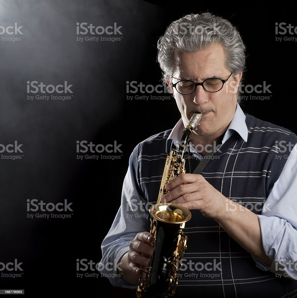 Saxophonist royalty-free stock photo