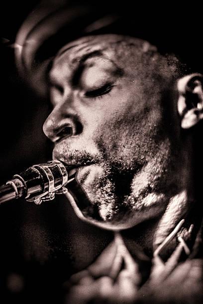Saxophonist stock photo