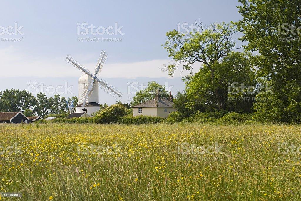 Saxtead Mill stock photo