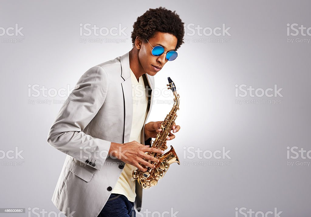 Saxy, and I know it stock photo