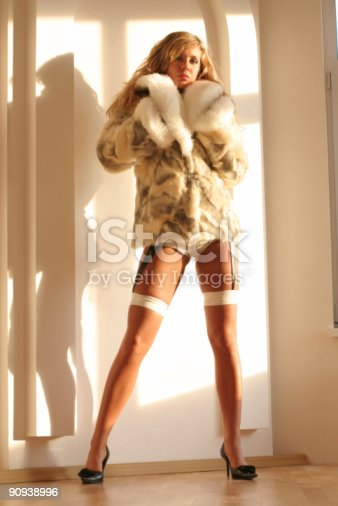 Saxy Girl In Furcoat Stock Photo  More Pictures Of 20-29 Years  Istock-3876