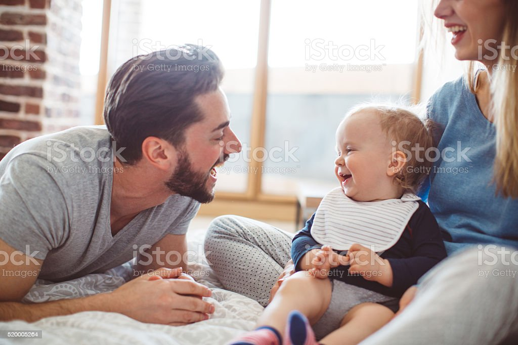Say Daddy! stock photo