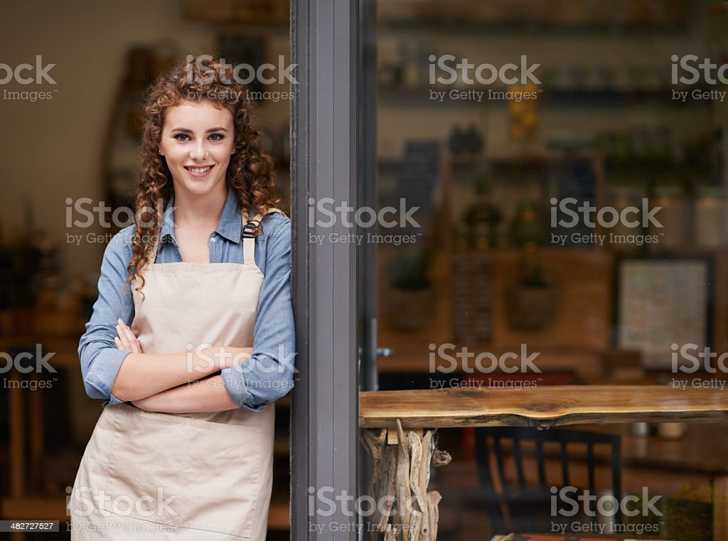 Say hello to the new boss! stock photo