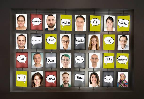 hallo sagen - spanisch translator stock-fotos und bilder