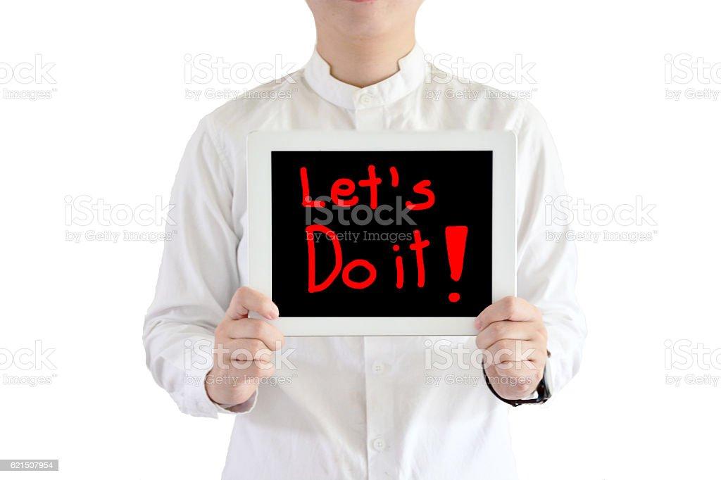 say let's do it ,with white background Lizenzfreies stock-foto