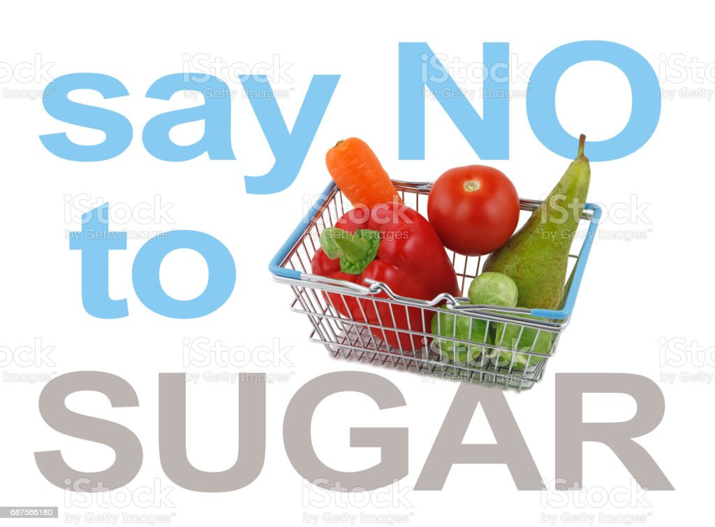 Say NO to SUGAR stock photo