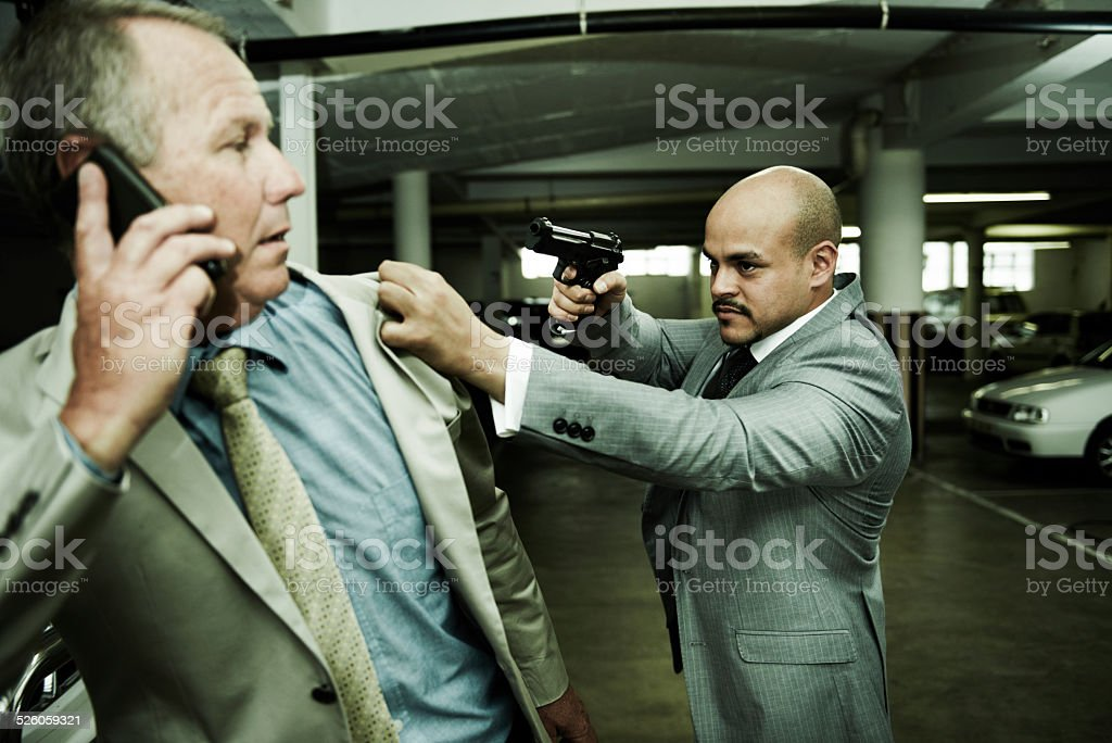 Say one more word and it's over stock photo