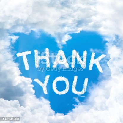 istock Say Thank you concept tell by shy cloud nature 512104985