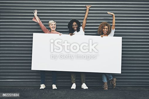 istock Say yes to displaying your message here 862201634
