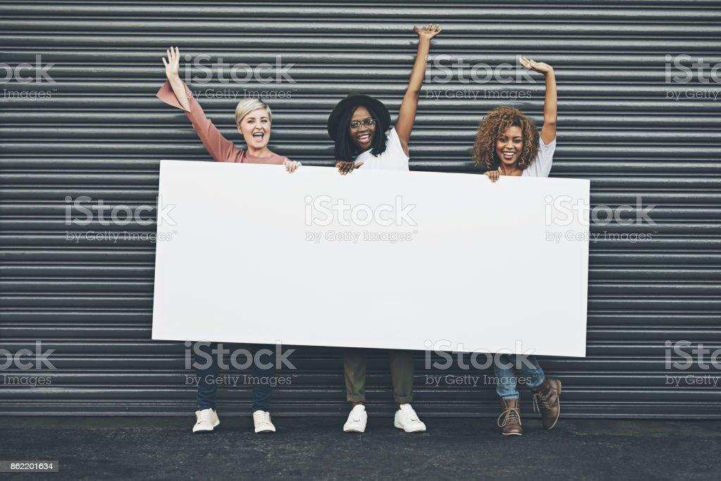 Say yes to displaying your message here stock photo