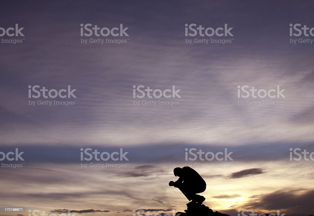 Saying a Prayer royalty-free stock photo