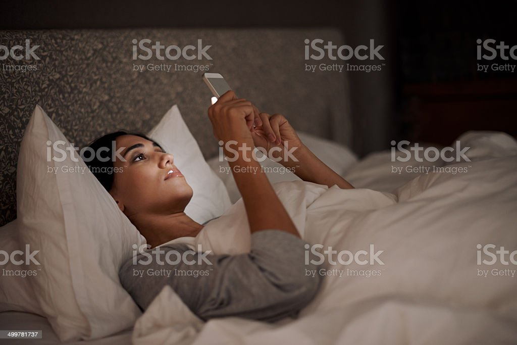 Saying goodnight to my love stock photo