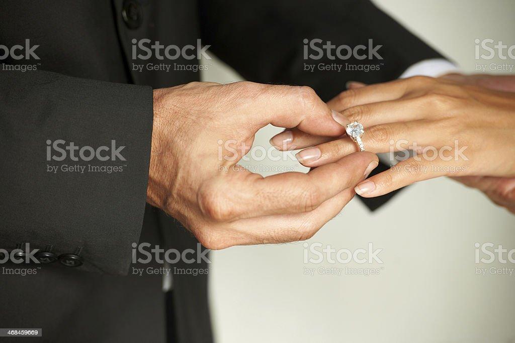 Saying I do.. royalty-free stock photo