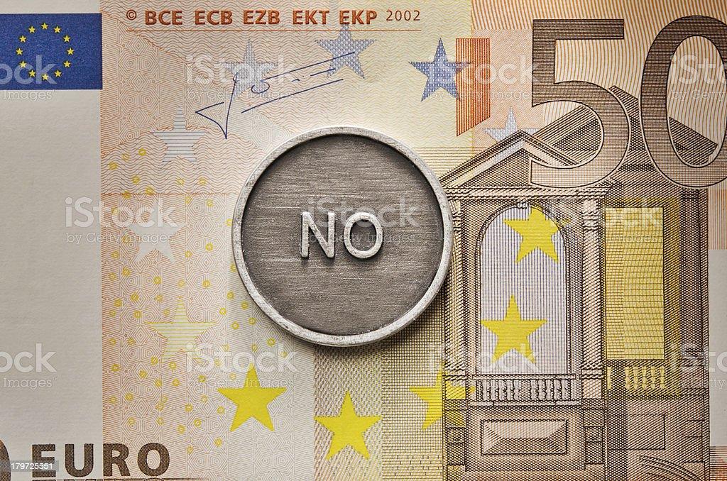 Saying No to European Union royalty-free stock photo