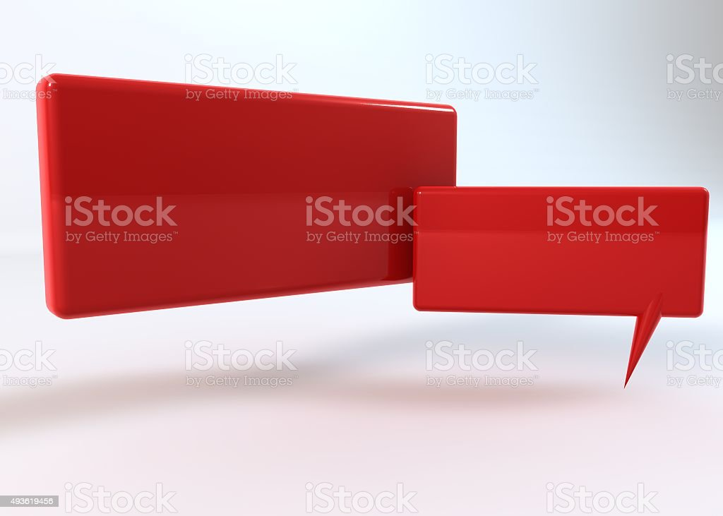 saying red box on white background stock photo