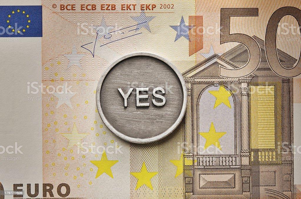 Saying Yes to European Union royalty-free stock photo
