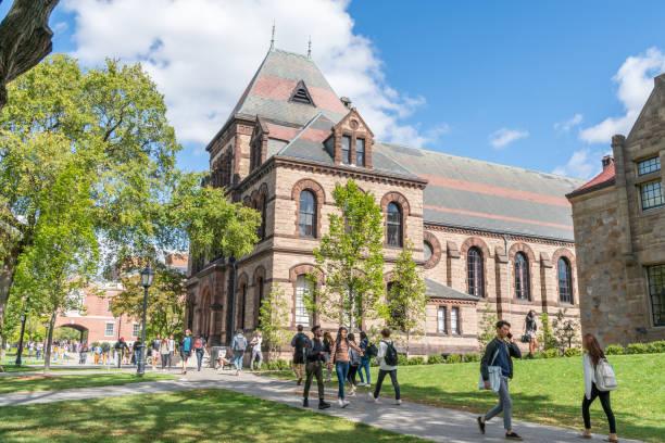 Sayles Hall at Brown University stock photo