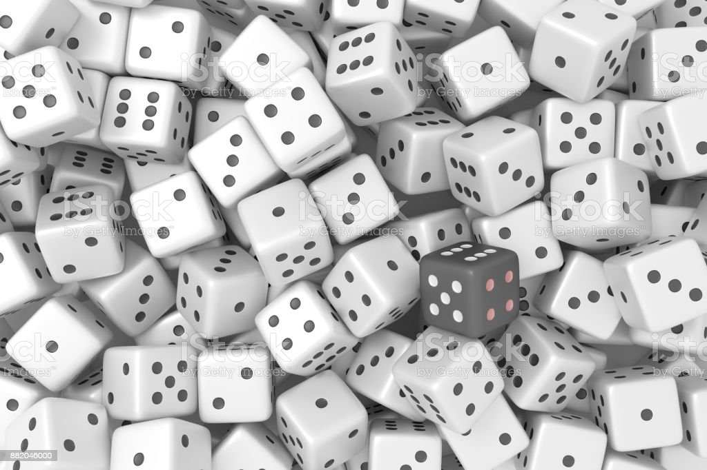 Dice. 3d rendering. stock photo