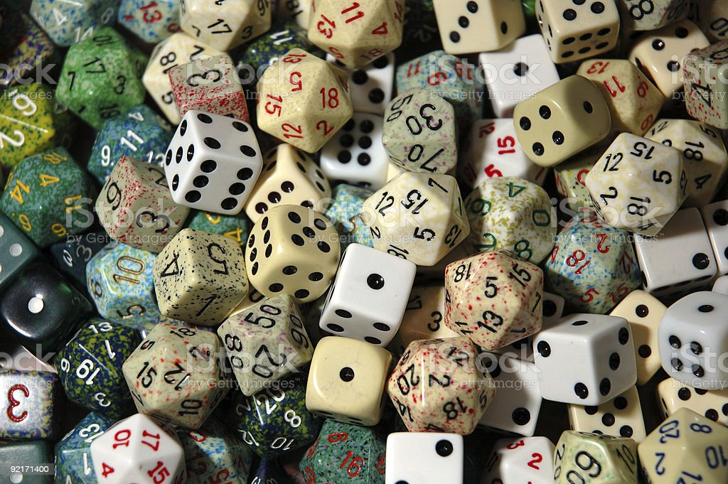 Dice! stock photo