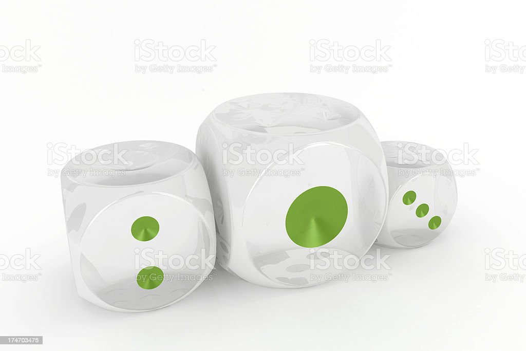Dice podium royalty-free stock photo
