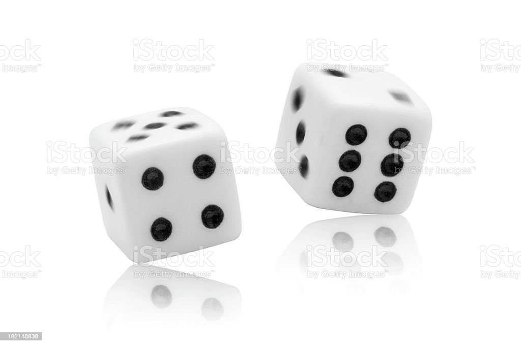 Dice Roll royalty-free stock photo