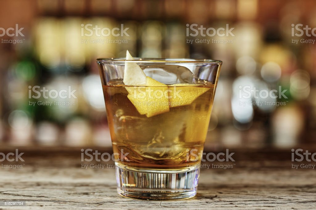 Sazerac a classic alcoholic cocktail stock photo