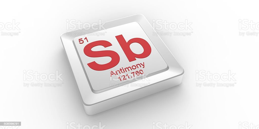 Chemical symbol sb image collections definition of symbolism in sb symbol 51 material for antimony chemical element stock photo istock urtaz Gallery