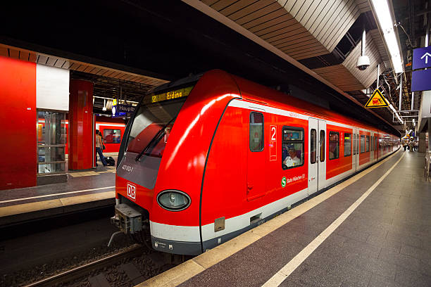 s-bahn trains munich germany - munich train station bildbanksfoton och bilder