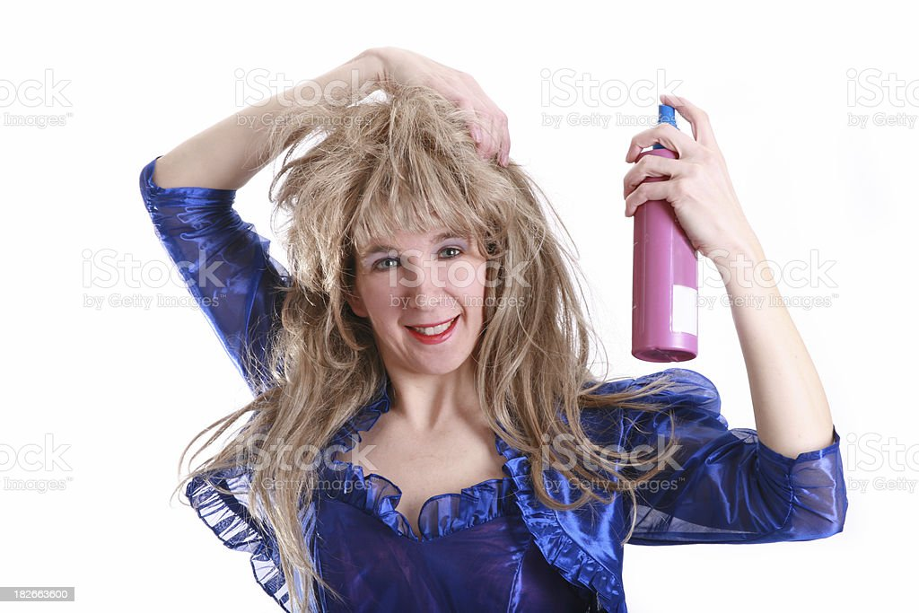 80'sBig Hair: Spray It stock photo