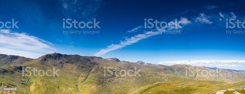Sca Fell and Great Gable, Lake District, UK royalty-free stock photo