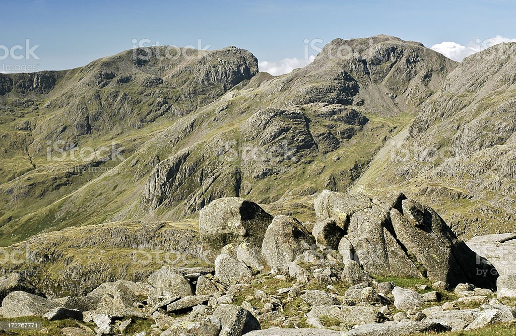 Scafell and Scafell-Pike royalty-free stock photo