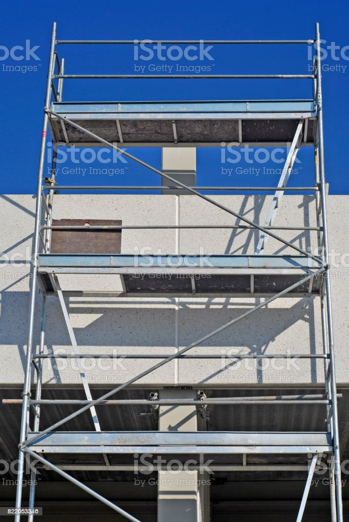 Scaffold in a workplace stock photo