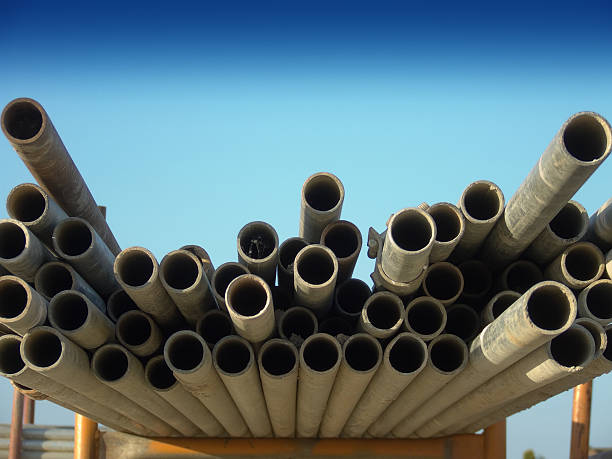 Scaffold Poles stock photo