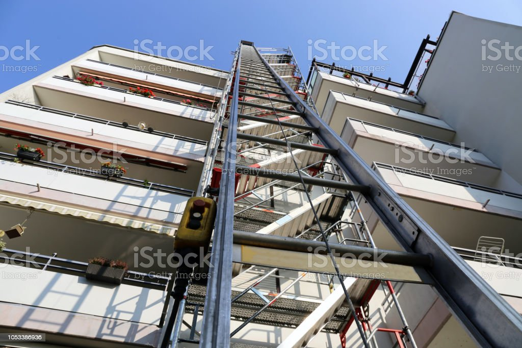 Scaffold With Construction Hoist Stock Photo - Download