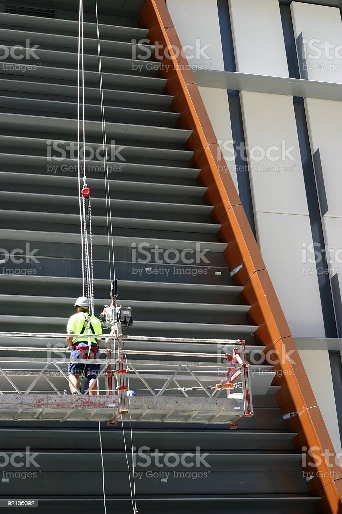 Scaffold Worker royalty-free stock photo