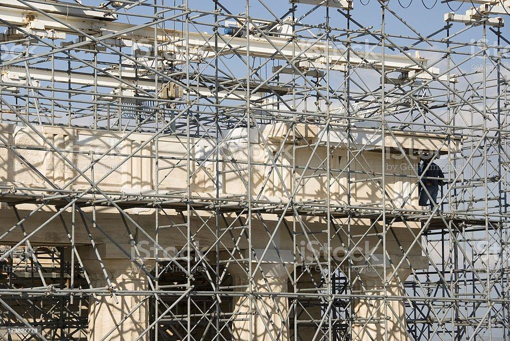 Scaffolding Acropolis royalty-free stock photo