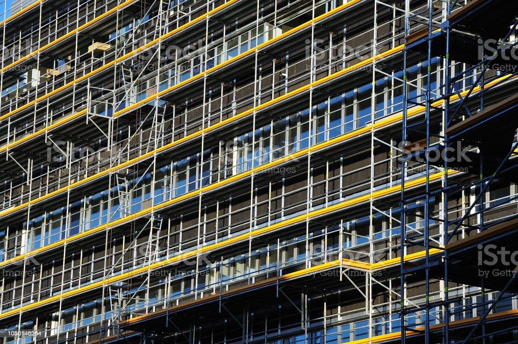 Gerüst auf Baustelle – Foto